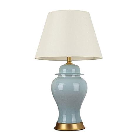 Shubiao Lámpara de Mesa de cerámica de Cobre, luz de ...