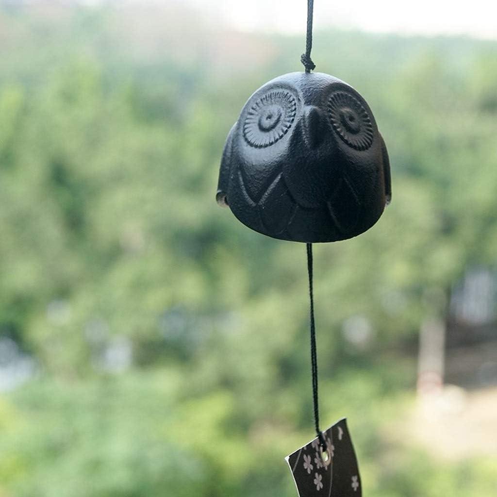 Che desiderano Un Giardino Domestico Campane a Vento in ghisa Gufo Ornamenti Vintage in Metallo per Porte e finestre ZHTY Campanelli eolici da Esterno