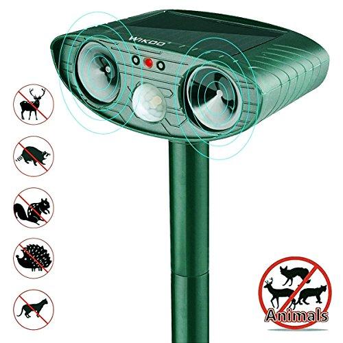 Animal Pest Repeller, Wikoo Solar Powered Ultrasonic Pest Repellent, Effective Outdoor Waterproof Pest Control,...