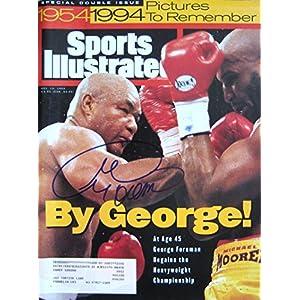 Foreman, George 11/14/94 autographed magazine