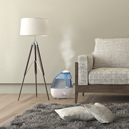 Large Product Image of MistAire XL Ultrasonic Cool Mist Humidifier for Large Rooms – 1-Gallon Water Tank with Variable Mist Control, Automatic Shut-Off, and Soft Night Light Options