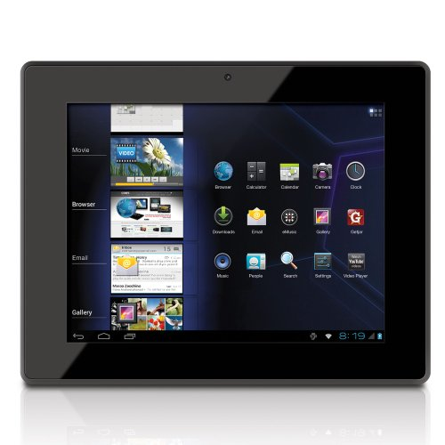 Coby Kyros 8-Inch Android 4.0 4 GB 4:3 Capacitive Multi-Touchscreen Internet Tablet with Built-In Camera, Black MID8042-4