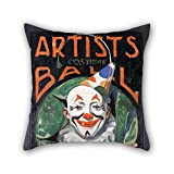 slimmingpiggy pillow covers of oil painting Norman Rockwell - Artists Costume Ball 20 x 20 inches / 50 by 50 cm,best fit for bar seat,sofa,divan,christmas,teens girls,bar twin sides