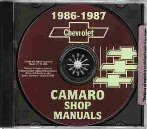 (1986 1987 CHEVROLET CAMARO 2 VOL. FACTORY REPAIR SHOP & SERVICE MANUAL INCLUDES: Standard Camaro, Coupe, Berlinetta, Z28, RS, Convertible, and IROC-Z 86 87)
