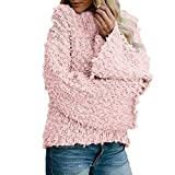 Staron Womens Sweater Casual Solid Flare Sleeve Pullover Coat Sweatshirts Outwear