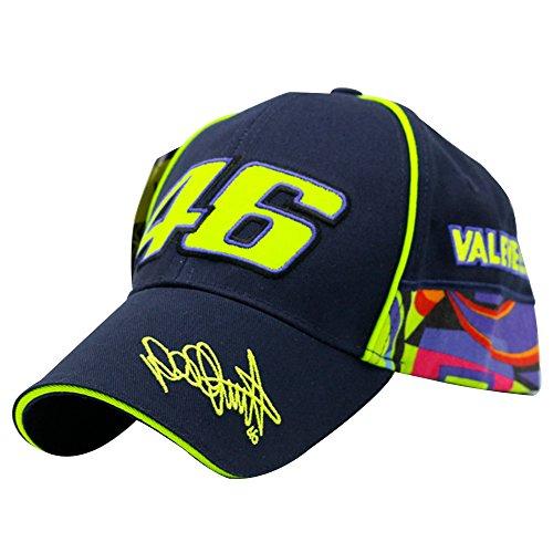 (YOUWANG MotoGP Valentino Rossi 46 Embroidery Men Women Baseball Hat Racing Cap)