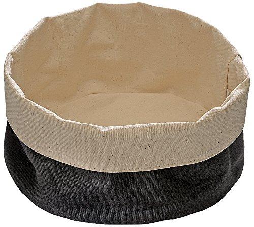 Black Paderno World Cuisine 42875B20 Round Canvas Bread Basket