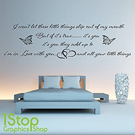 1Stop Graphics Shop - ONE DIRECTION WALL STICKER QUOTE - BEDROOM ...
