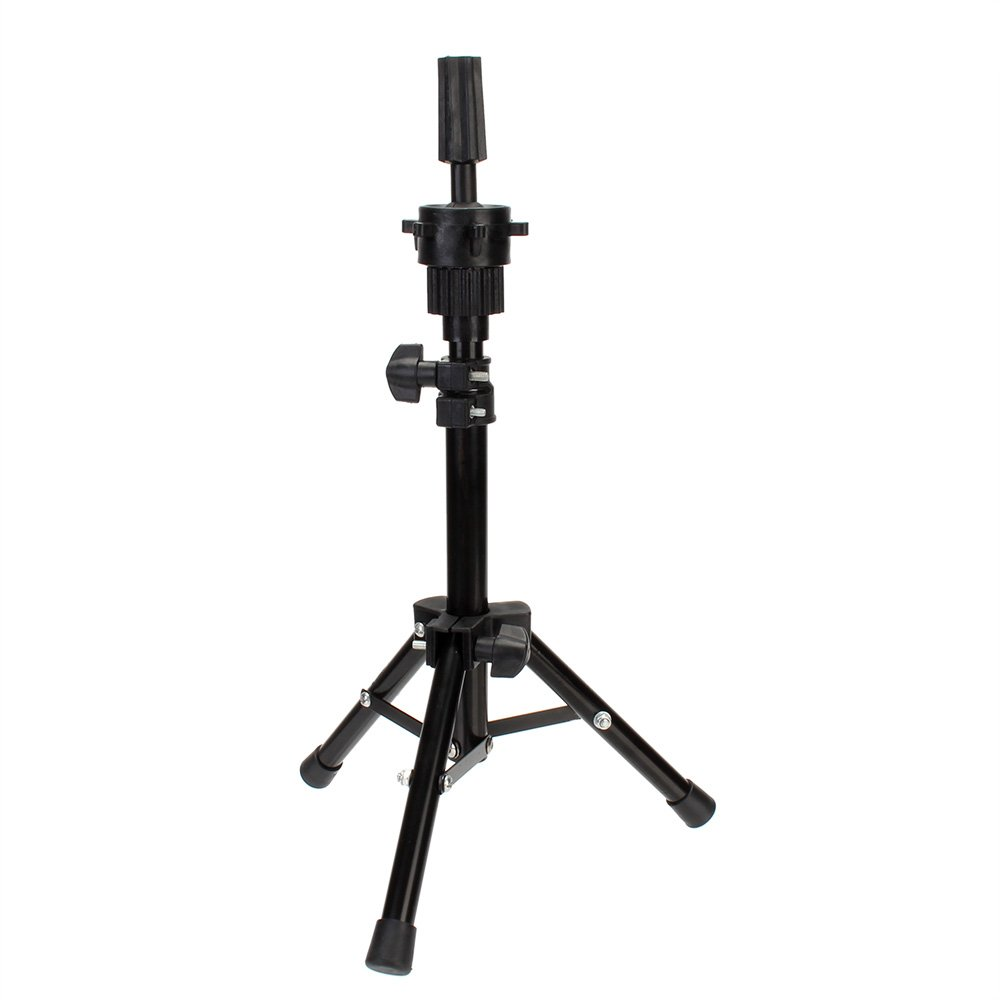 Neverland Beauty Mini Wig Mannequin Head Tripod Stand with Carry Box for Cosmetology Portable (High 36-63cm) Adjustable Tripod Stand Holder