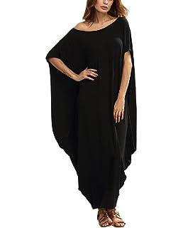 3f7f1ef4c308 BienBien Vestito Taglie Forti Donna Incinte Cerimonia Abito Maxi Manica  Corta Casual Vestiti Lunghi Eleganti Estivi