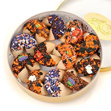 halloween fortune cookies gift tin set of 12