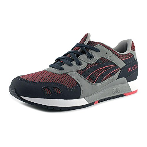 ASICS Men's Gel-Lyte III Medium Grey/Guava Running Shoe 13 Men US