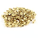 100pcs Brass Hex Standoff Spacer Screw Female to Male 5mm+6mm M3 3mm