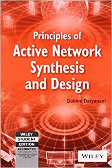 Book Principles Of Active Network Synthesis And Design