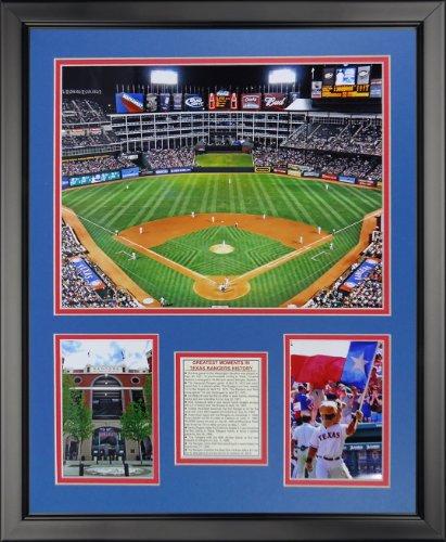 (Legends Never Die Texas Rangers - Arlington Stadium Framed Photo Collage, 16