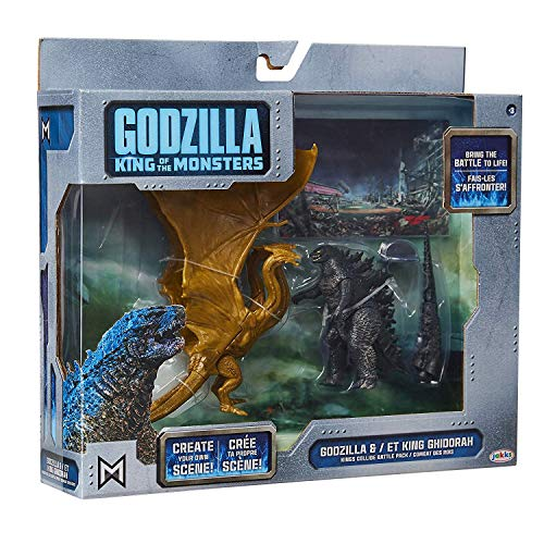 Battle Kings Playset - Godzilla King of The Monsters and ET King Ghidorah - Kings Collide Battle Pack