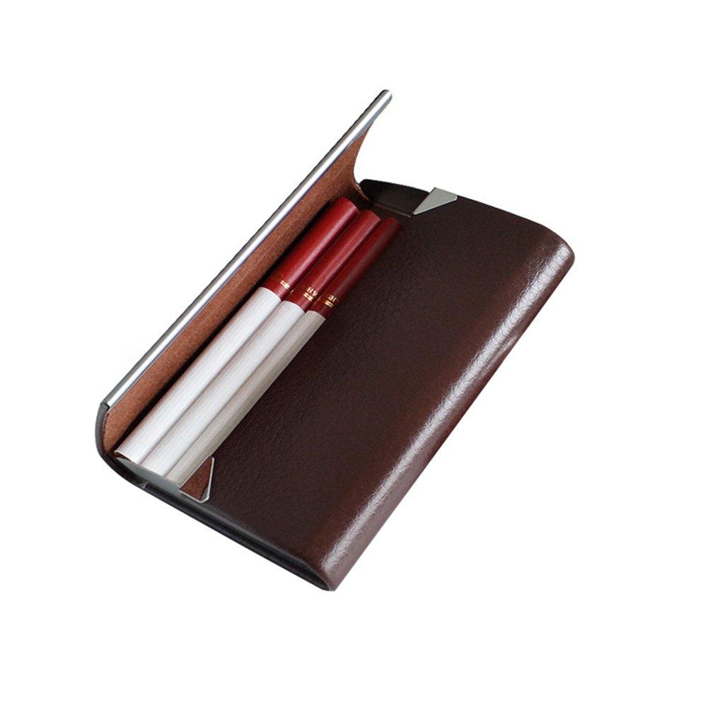 NACHEN Zigarettenetui F/ür M/änner Leder Einfache Flip Zigarettenbox H/ält 7 Zigaretten