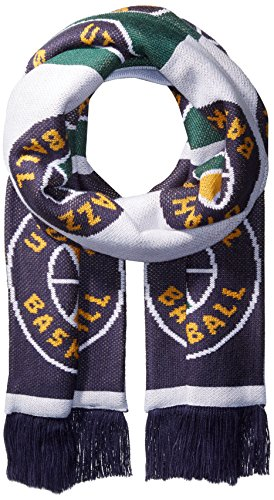 fan products of NBA Utah Jazz Unisex Repeating Logo Scarf, Navy, One Size