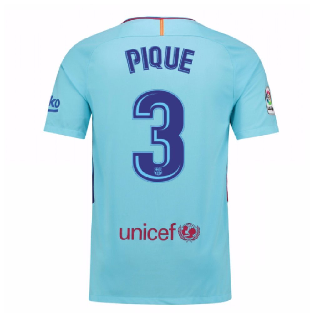 2017-2018 Barcelona Away Shirt (Pique 3) Kids B077PS15JSRed MB 27-29\