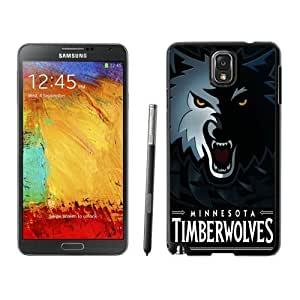 Popular And Unique Custom Designed Cover Case For Samsung Galaxy Note 3 N900A N900V N900P N900T With Minnesota Timberwolves 5 Black Phone Case
