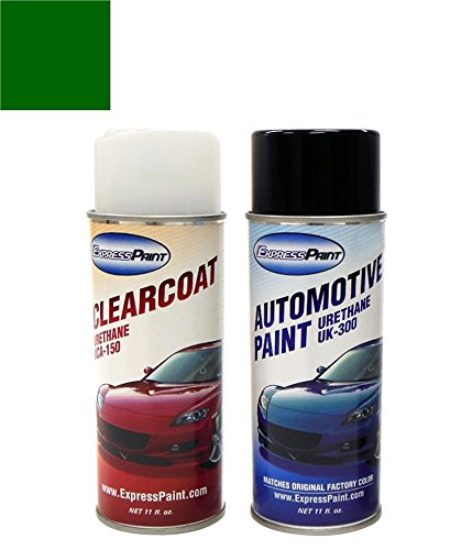 ExpressPaint Aerosol Subaru Legacy Automotive Touch-up Paint - Timberline Green Pearl Clearcoat 83N - Color + Clearcoat Package