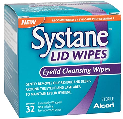 - Systane Lid Wipes - Eyelid Cleansing Wipes - Sterile, Count of 32