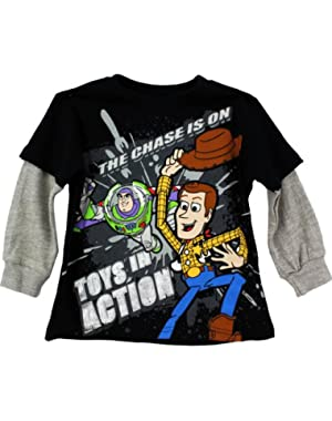 Baby-boys Toy Story Shirt Toys In Action Tee