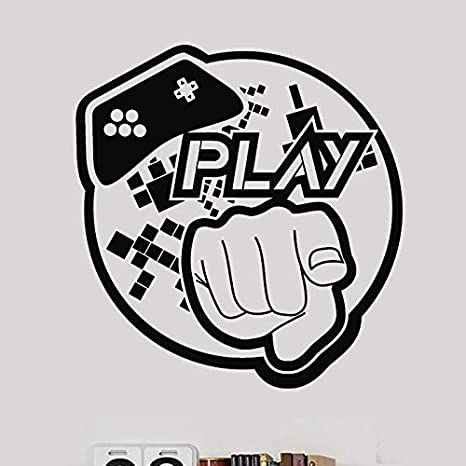 Gamepad Adhesivo de videojuegos Juegue Sala de juegos Calcomanía ...