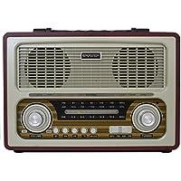 RADIO PORTATIL BLUETOOTH VINTAGE RETRO COM USB SD EM MADEIRA MDF RECARREGAVEL
