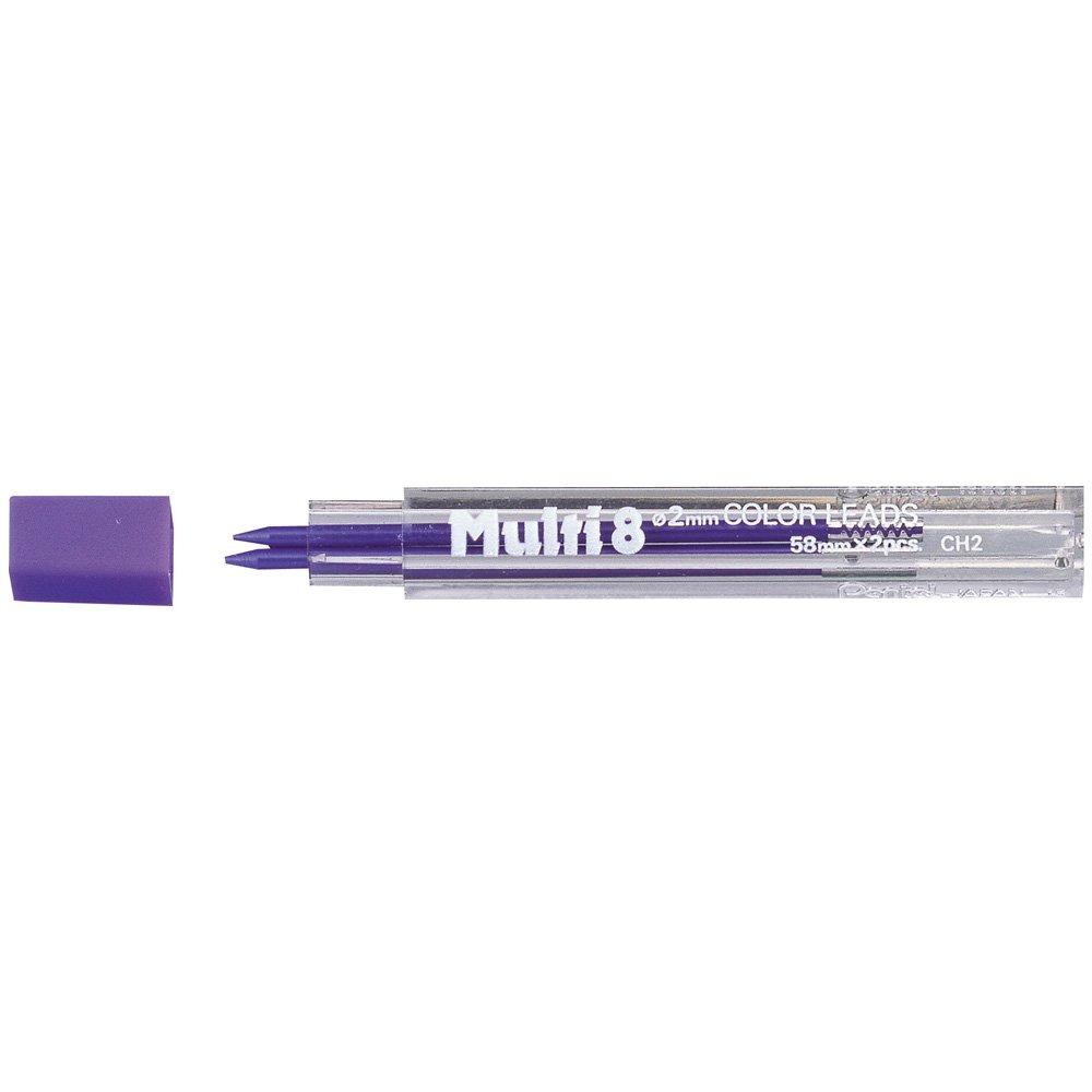 Pentel 2 Minas (1 Tubo) 2mm  Purpura