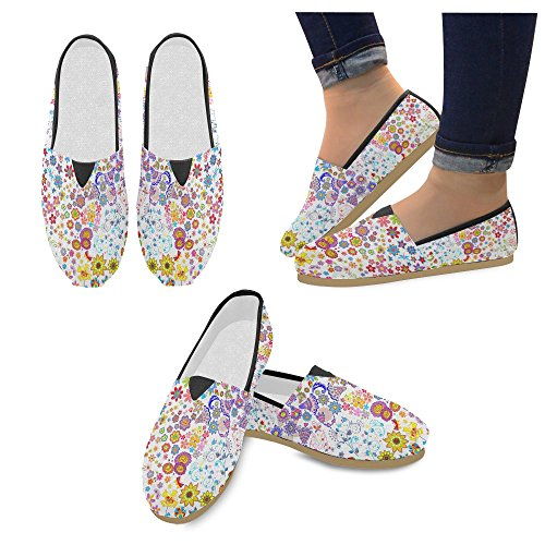M-story Fashion Sneakers Flat Cartoon Blue Dogs Womens Classic Slip-on Canvas Mocassini Multi11