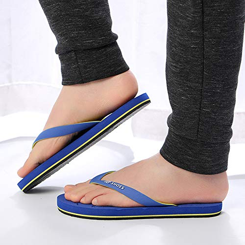 Summer Men Anti-Skidding Sandals Slipper Beach Shoes Blue by Sunsee (Image #4)
