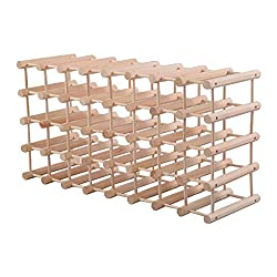 Eight24hours 40 Bottle Wood Wine Rack 5 Tier Storage Display Shelves Kitchen Natural + FREE E-Book