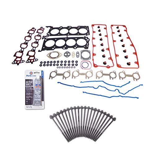 Head Gasket Set Bolt Kit Fits: 02-04 Ford Mustang GT Lincoln Mercury 4.6L SOHC 16v VIN - Head Gt Cylinder Gasket