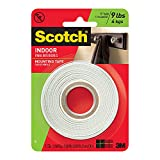 Scotch Mounting Tape, 12.7 mm x 1.9 m, White, 1 Roll (110-ESF)