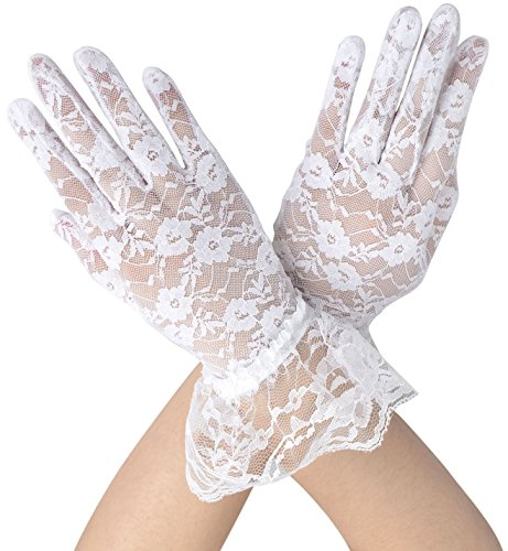Simplicity Bridal Gloves Lace Wrist Length Special Occasion Wear, 7331_White]()