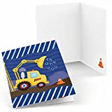 Construction Truck - Baby Shower or Birthday Party Thank You Cards (24 count)