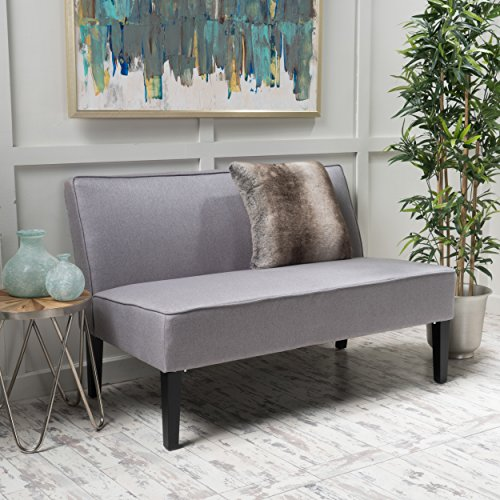 Christopher Knight Home 299748 Charlotte Light Grey Fabric Love Seat,