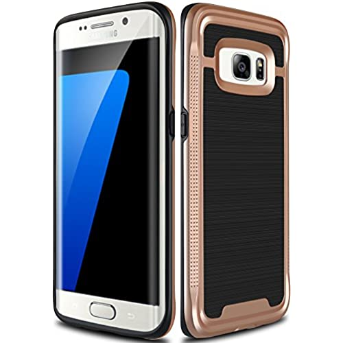 Galaxy S7 Edge Case, Ansiwee Shockproof Phone Cover, Galaxy S7 Edge Cover, Soft TPU Bumper Hard PC Case Brushed Sales