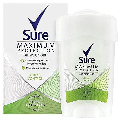 Sure Women Maximum Protection StressControl Anti-Perspirant Deodorant Cream 45ml (PACK OF 6)