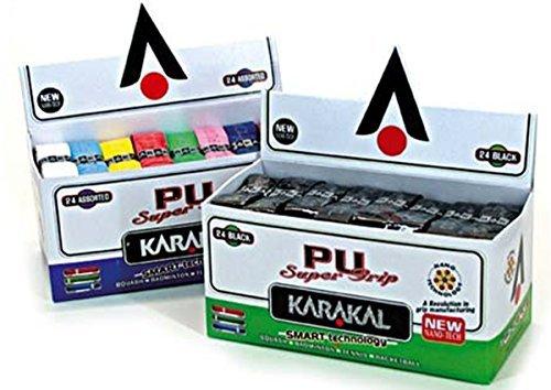 Karakal Tennis Squash Badminton Racket Handle Replacement Pu Grip Black Pk Of 24