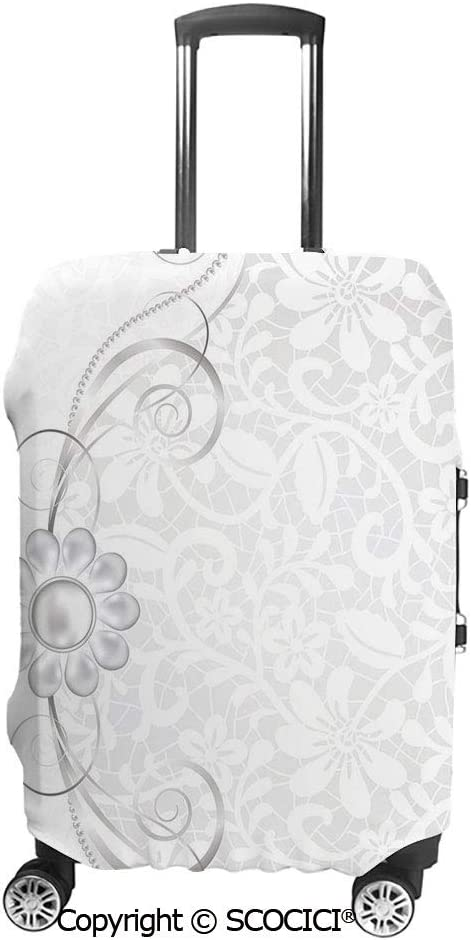 SCOCICI Luggage Cover Bohemian Spiritual Pattern with Wavy Horizontal Ornamental Protective Travel Trunk Case Elastic Luggage Suitcase Protector Cover