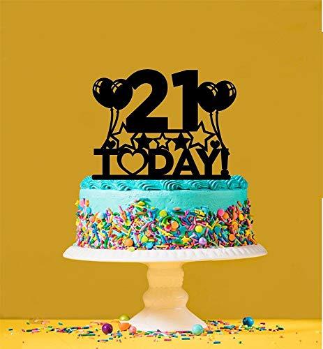 21st Birthday Cake Topper - 21 Years Old - Twenty-First by Tamengi