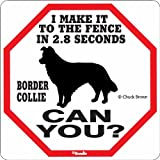 Border Collie 2.8 Seconds Sign