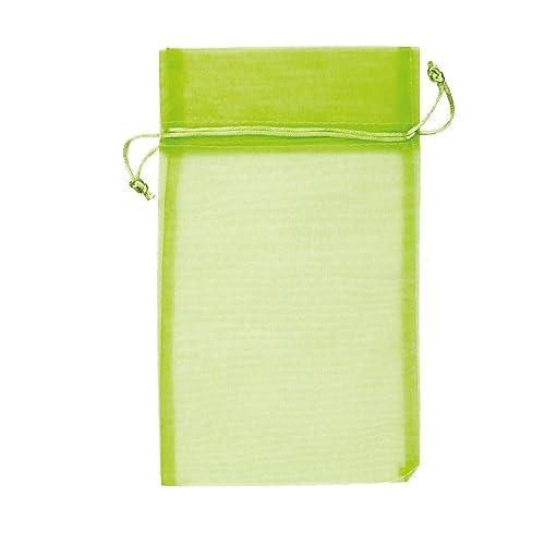 McDEKO 15 bolsas de organza 20 x 30 cm - Color Verde Claro ...