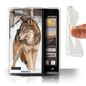 STUFF4 Gel TPU Phone Case / Cover for Huawei Ascend P6 Mini / Wolf Design / Wildlife Animals Collection