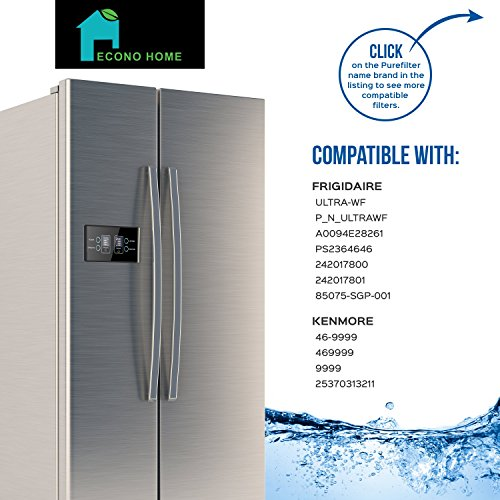 Refrigerator Water Filter: Replacement for FRIGIDAIRE ULTRA-WF | Also Works With the Kenmore, PureSource and side-By Side Fridge Appliances Models by EconoHome (Image #1)