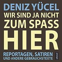 Wir sind ja nicht zum Spaß hier: Reportagen, Satiren und andere Gebrauchstexte Hörbuch von Deniz Yücel Gesprochen von: Josef Vossenkuhl