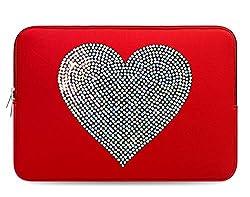 Design Crystal Bling Rhinestone Studded Red Laptop Case