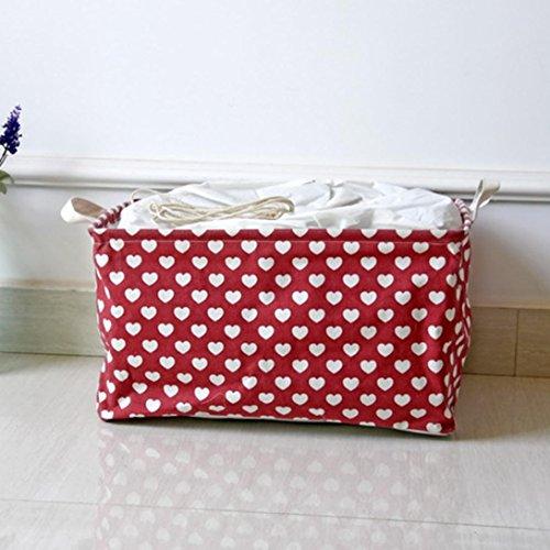 YJYDADA Cotton Linen Waterproof PE Coating Storage Basket Sundries Storage Box - Air Jumbo Tote